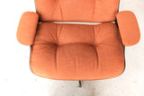 Orange Selig Lounge Chair and Ottoman