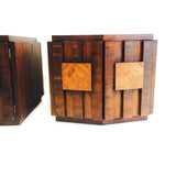 Pair of Mid Century Modern Brutalist End Tables