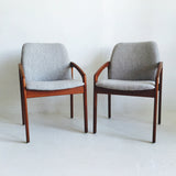 Pair of Kai Kristiansen Chairs - Grey