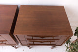 Pair of Mid Century Modern Sculpted Nightstands