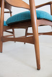 Pair of Sculpted Occasional Chairs -  Teal