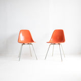 Herman Miller Orange Chairs (Set of 2)