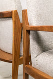 Pair of Walnut Occasional Chairs