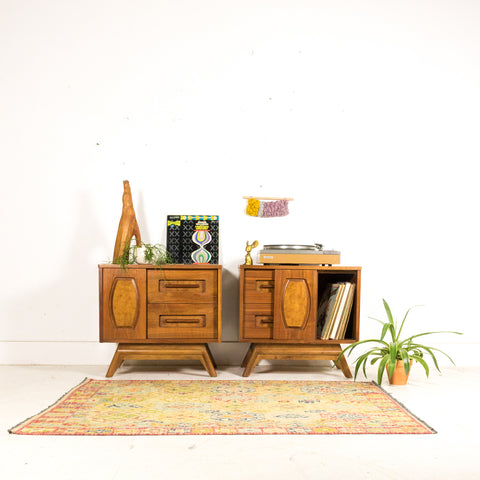 Pair of Mid Century Nightstands by Young