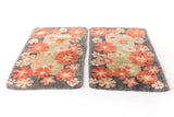 Pair of Vintage Floral Shag Rugs