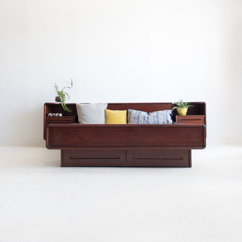 Rosewood Platform Bed and Nightstands