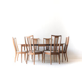 Mid Century Sculpted Cane Dining Set