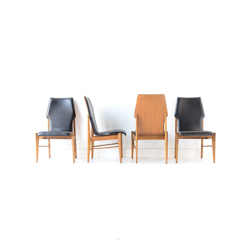 Set of 4 Lane Dining Chairs