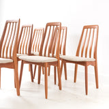 Set of 6 Sculpted Teak Chairs