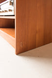 Sliding Teak Desk/Media Center