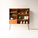 Teak Bookshelf/Display Cabinet