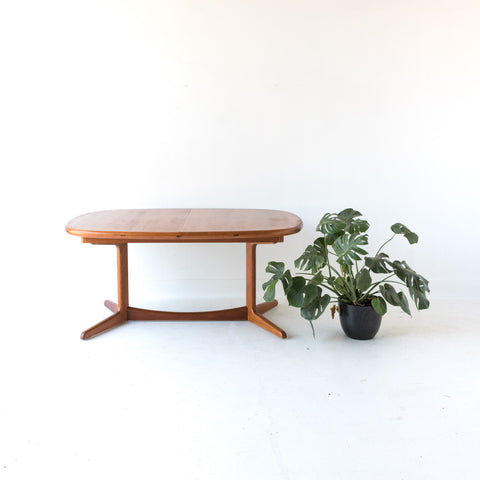 Teak Dining Table with One Leaf