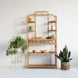 Vintage Bamboo Shelf
