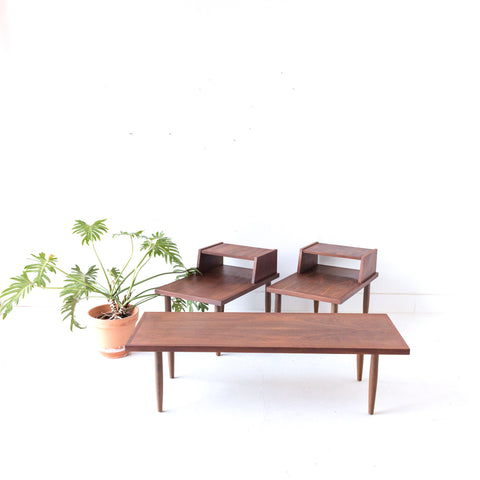 Mid Century Coffee and End Table Set