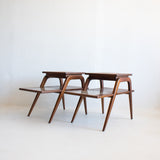 Mid Century Walnut End Tables