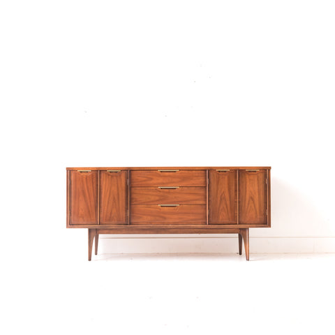 Mid Century Modern Sideboard with Brass Pulls - B