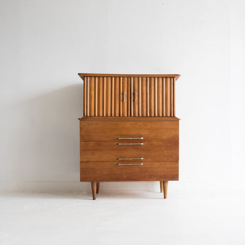 Sculpted Highboy Dresser