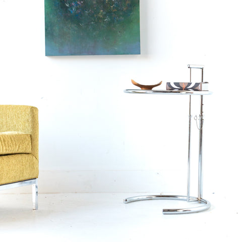 Eileen Grey Adjustable Chrome Side Table