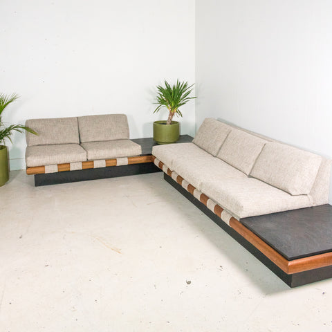 Adrian Pearsall Sectional with Slate End Tables