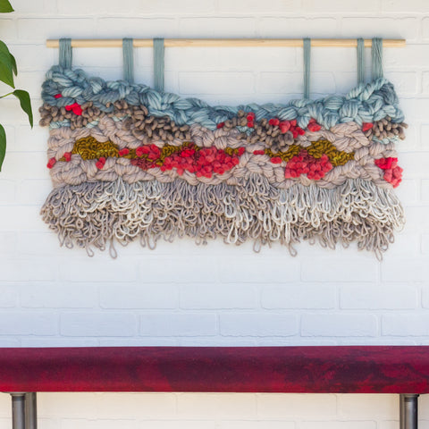 "Large ""Coral Reef"" Woven Wall Hanging"