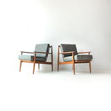 Pair of Teal Baumritter Chairs
