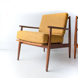 Pair of Mustard Baumritter Chairs