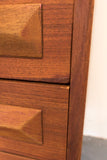 Danish Teak Highboy Dresser
