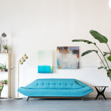 Electric Blue Gondola Sofa