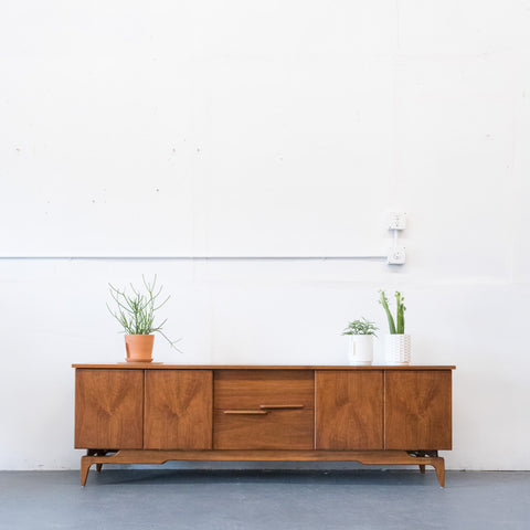 Extra Long Mid Century Modern Media Cabinet/Sideboard