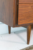 Mid Century Walnut Dresser with Sculpted Drawer Pulls