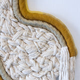 Golden Rope Wrapped Wall Hanging