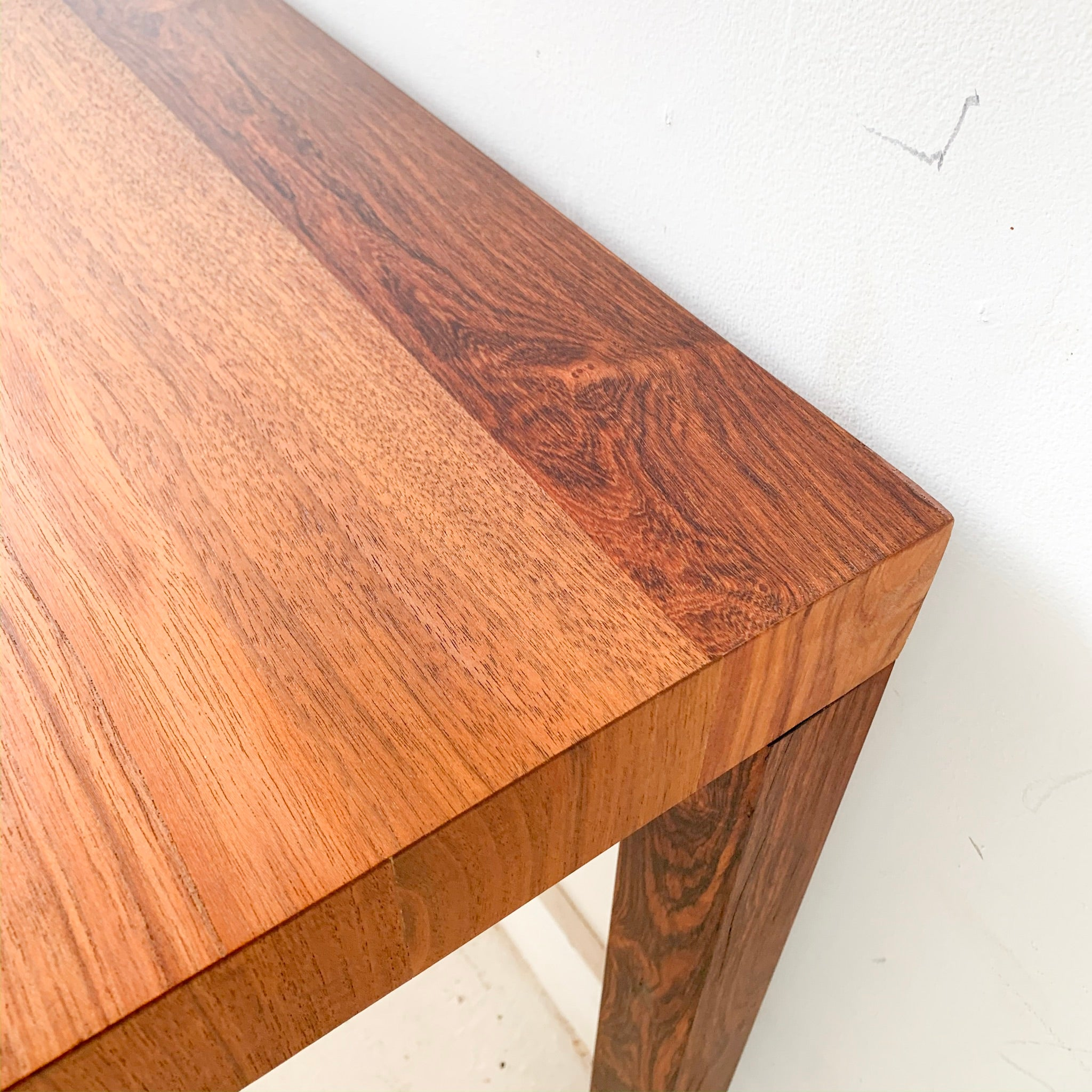 Mid Century Modern Parsons Dining Table with 1 Leaf by Dyrlund