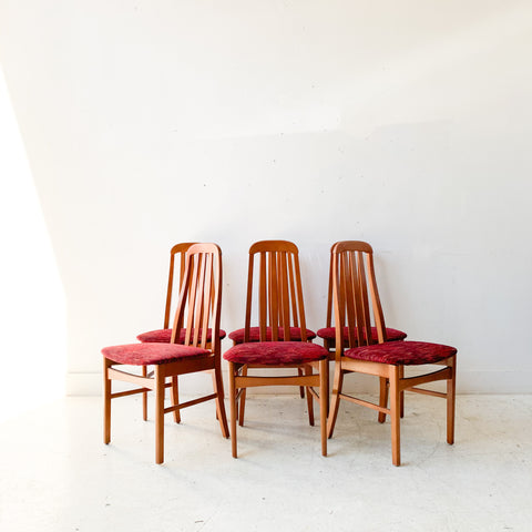 Set of 6 Cherry Dining Chairs