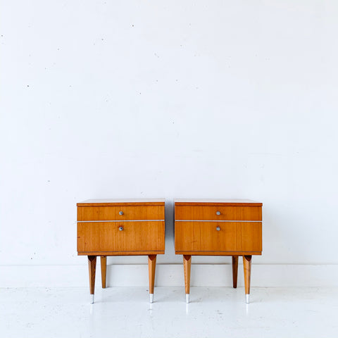 Pair of Mid Century Modern Teak Nightstands