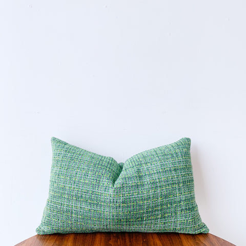 Green Tweed Pillow