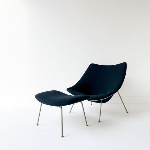 Pierre Paulin Chair and Ottoman
