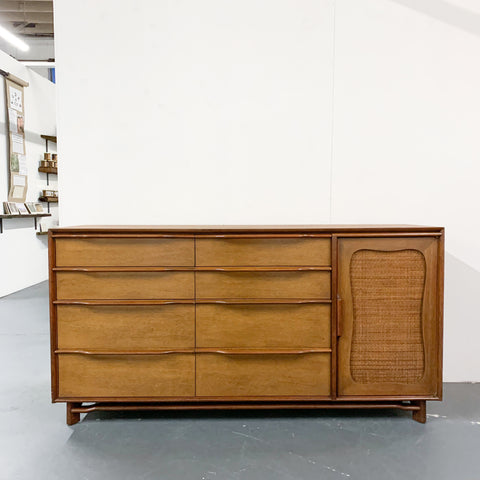Mid Century Modern Cane Front Buffet