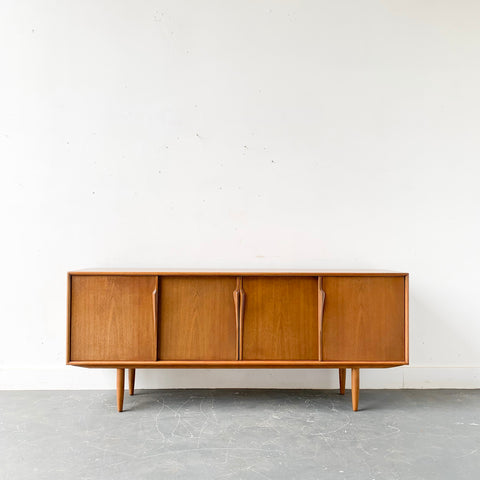 Mid Century Modern Danish Sideboard with Sliding Doors