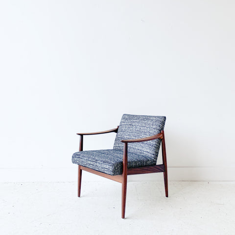 Danish Teak Lounge Chair with New Upholstery