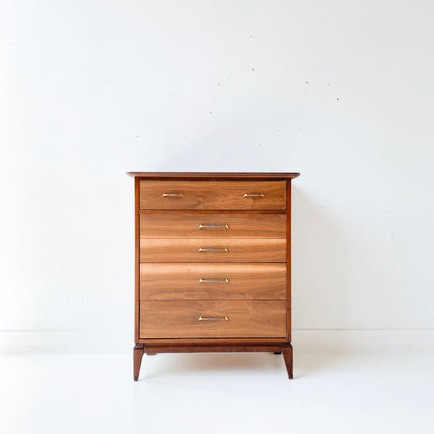 Mid Century Modern Walnut Highboy Dresser