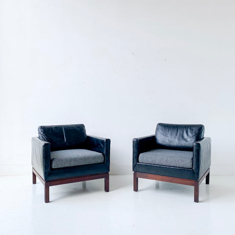 Pair of Mid Century Modern Marble Imperial Lounge Chairs