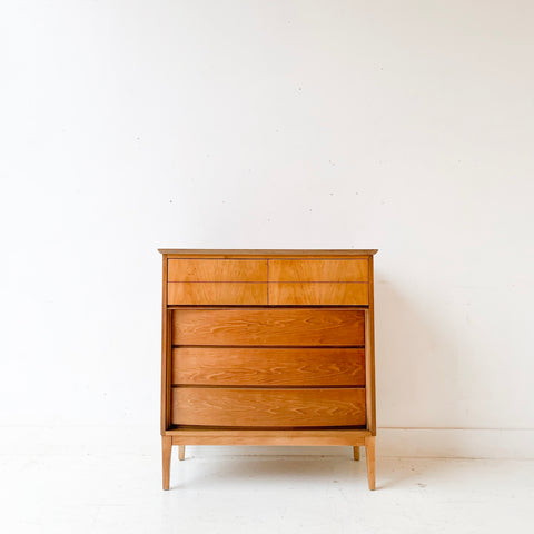 Mid Century Modern Highboy Dresser by Dixie