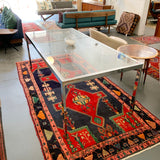 Vintage Chrome and Glass Expandable Dining Table