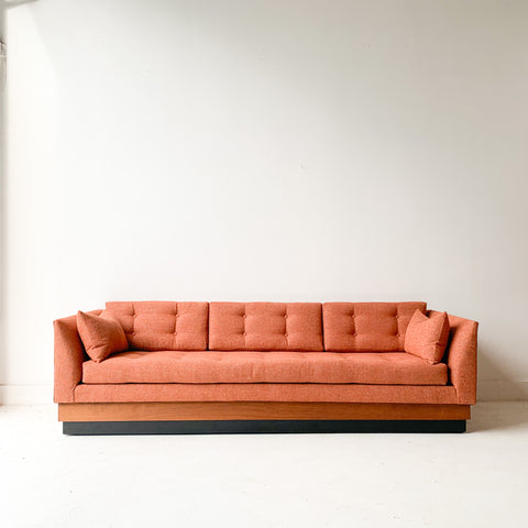 Adrian Pearsall Sofa with All New Orange Upholstery