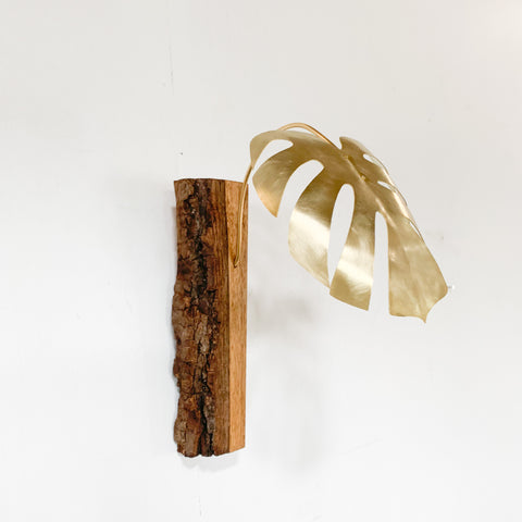 Handcrafted Monstera Sculpture - Single