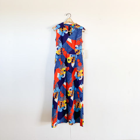 Psychedelic 60s Maxi Dress - M