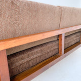 Mid Century Sofa with Cane Sides - New Upholstery