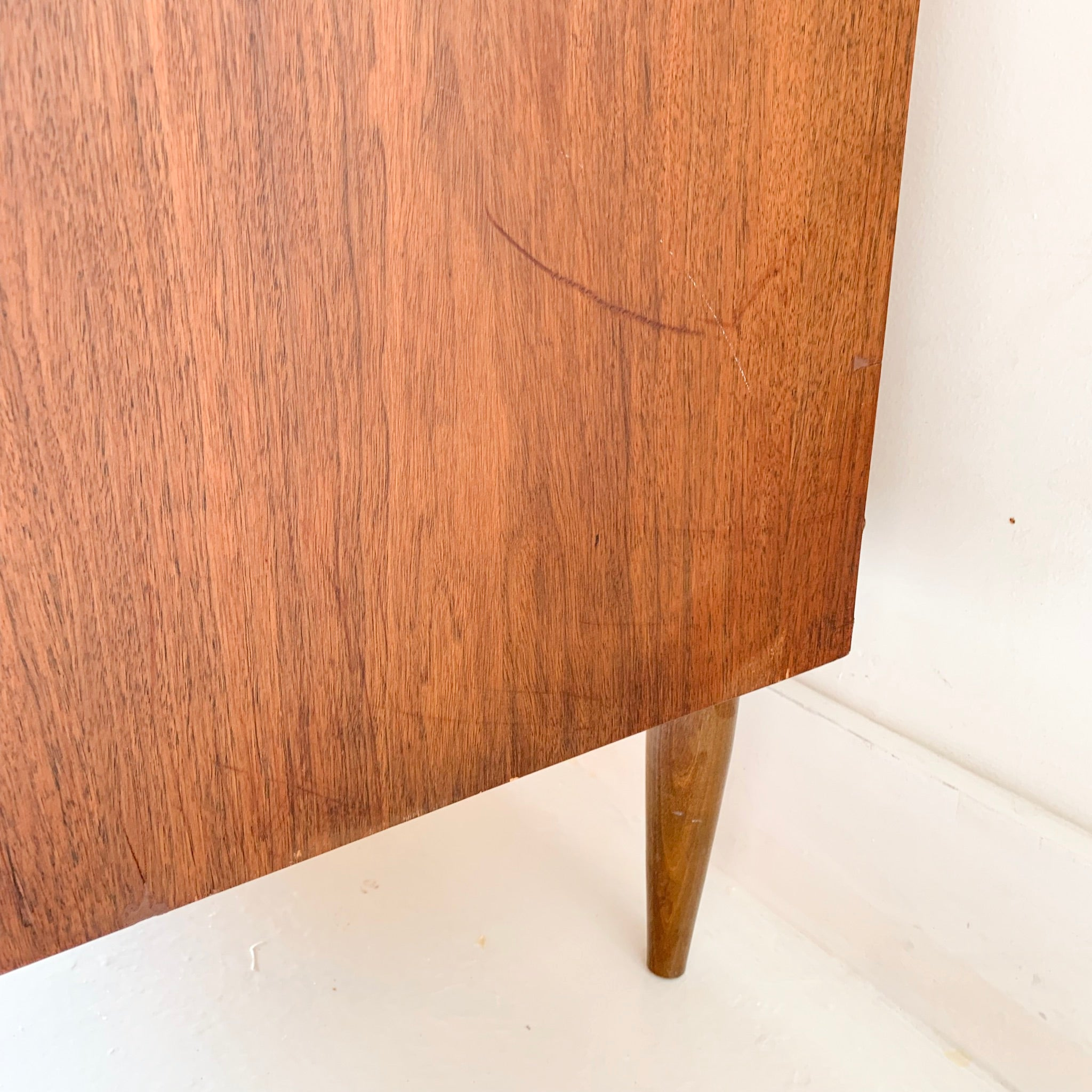 Mid Century Modern Dresser with Sculpted Drawer Pulls