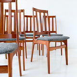 Set of 8 Schionning & Elgaard Danish Modern Teak Dining Chairs