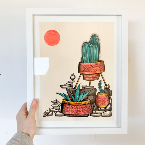 Arizona Succulents Print - Framed